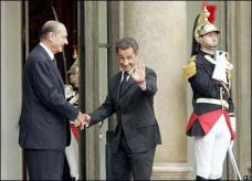 BBC UK: Nicolas Sarkozy has been sworn in as France's new president after a handover ceremony with outgoing leader Jacques Chirac